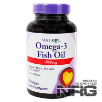 NATROL Omega 3 Fish Oil 1000 мг, 60 кап
