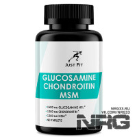 JUST FIT Glucosamine Chondroitin MSM, 90 таб