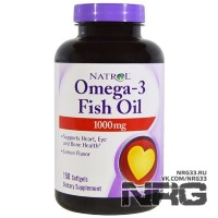NATROL Omega 3 Fish Oil 1000 мг, 150 кап