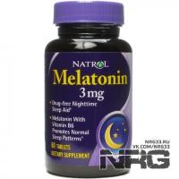 NATROL Melatonin 3mg, 60 таб