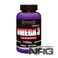 ULTIMATE Omega 3 softgels, 180 кап
