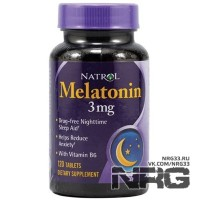 NATROL Melatonin 3mg, 120 таб