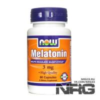 NOW Melatonin 3 mg, 60 кап