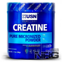 USN Creatine Pure Micronized Monohydrate Powder, 500 г