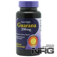 NATROL Guarana 200 mg, 90 кап