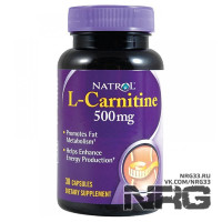 NATROL L-Carnitine 500mg, 30 кап