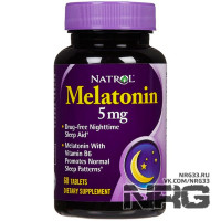 NATROL Melatonin 5 mg, 60 таб